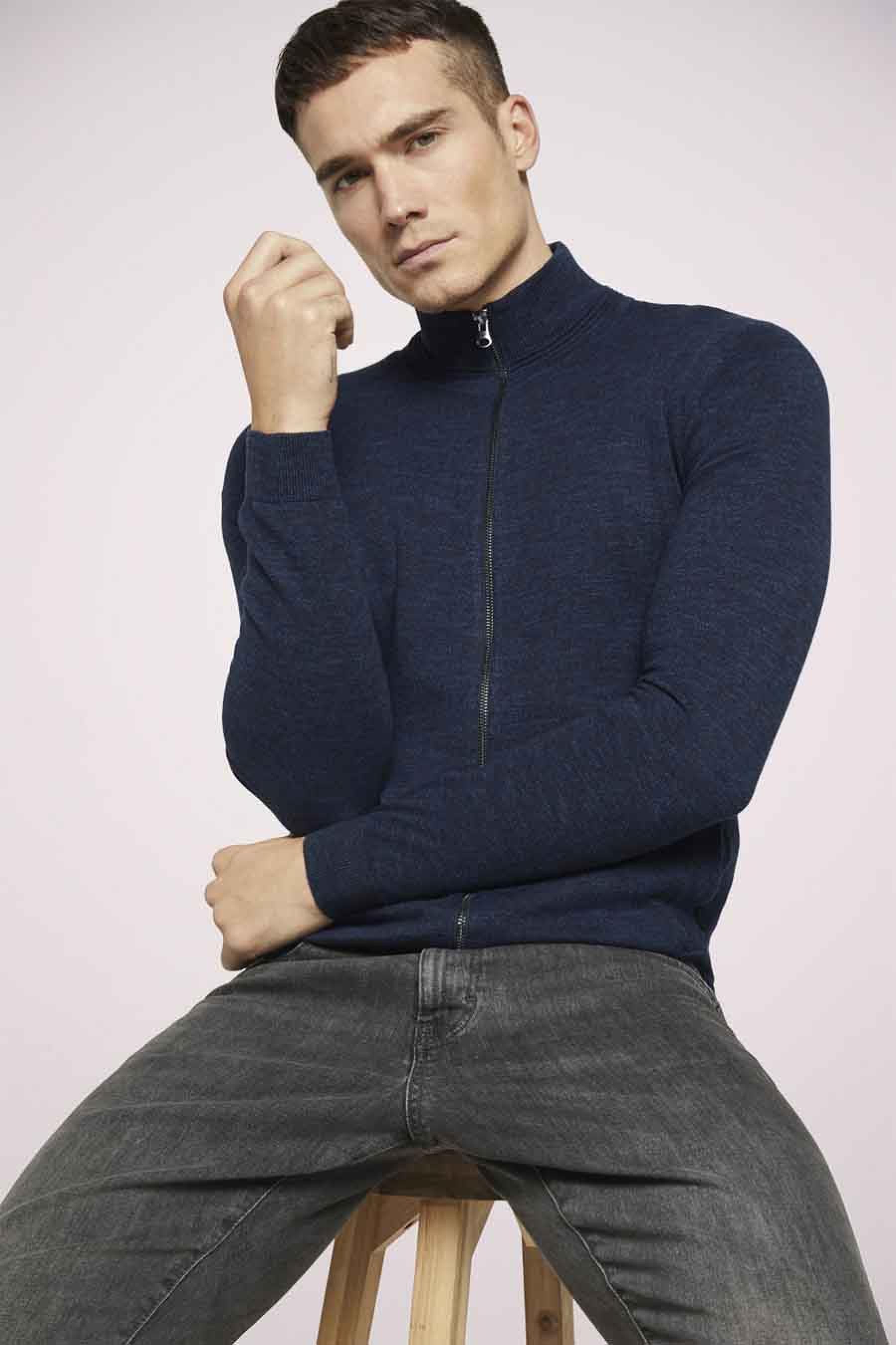 Tom Tailor Jas kort, Blauw, Heren, Maat: L/M/S/XL/XXL