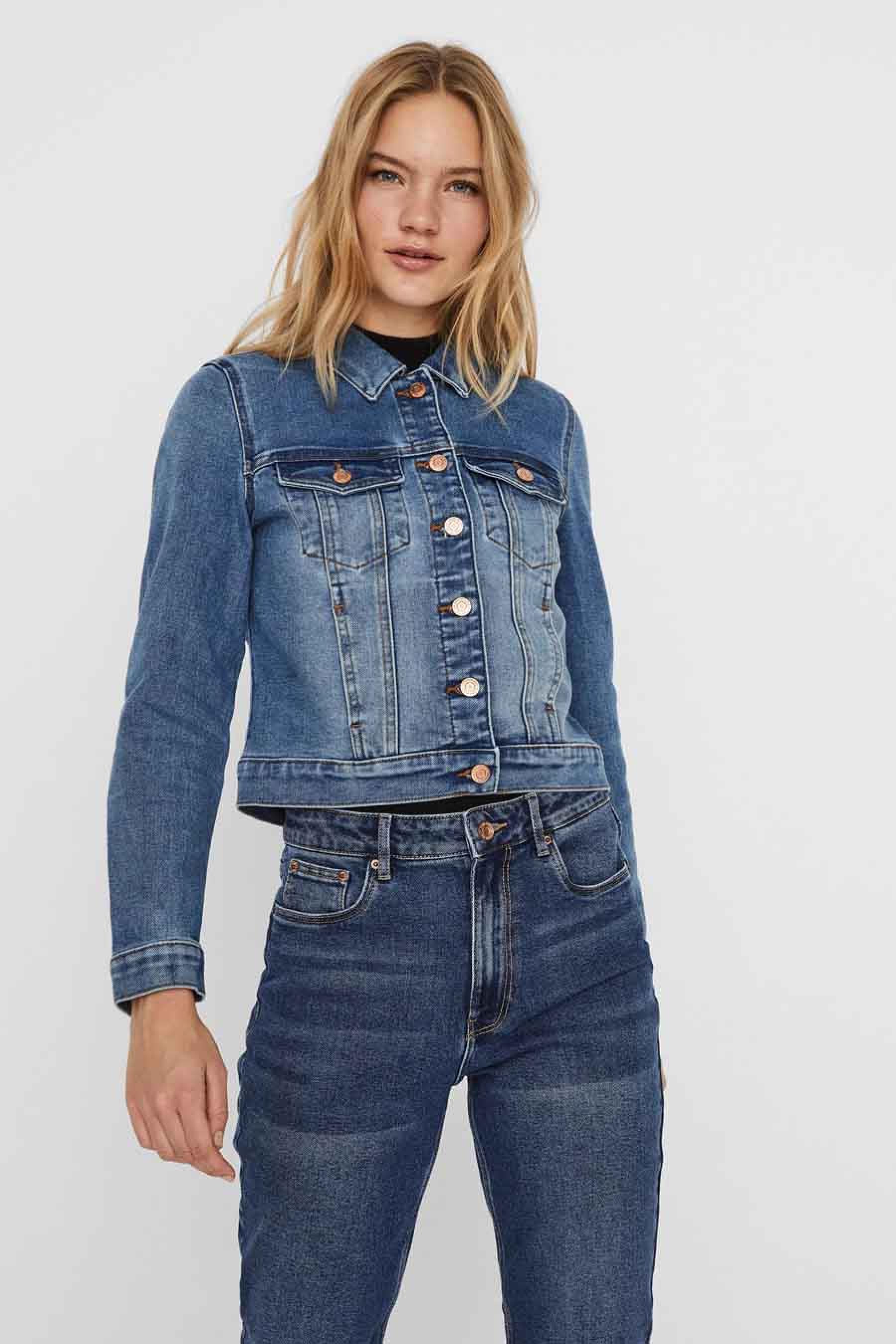 Vero Moda Jeansjas, Denim, Dames, Maat: L/M/S/XL/XS