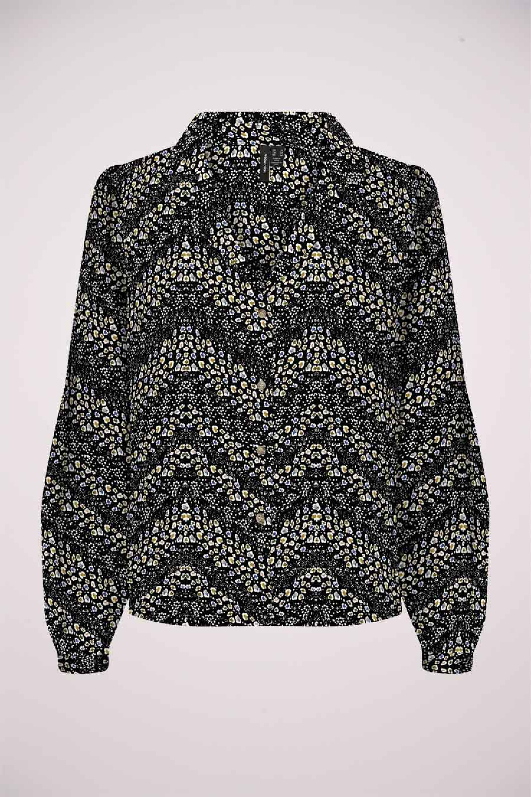 Vero Moda® Blouse lange mouwen, Zwart, Dames, Maat: L/M/S/XL/XS