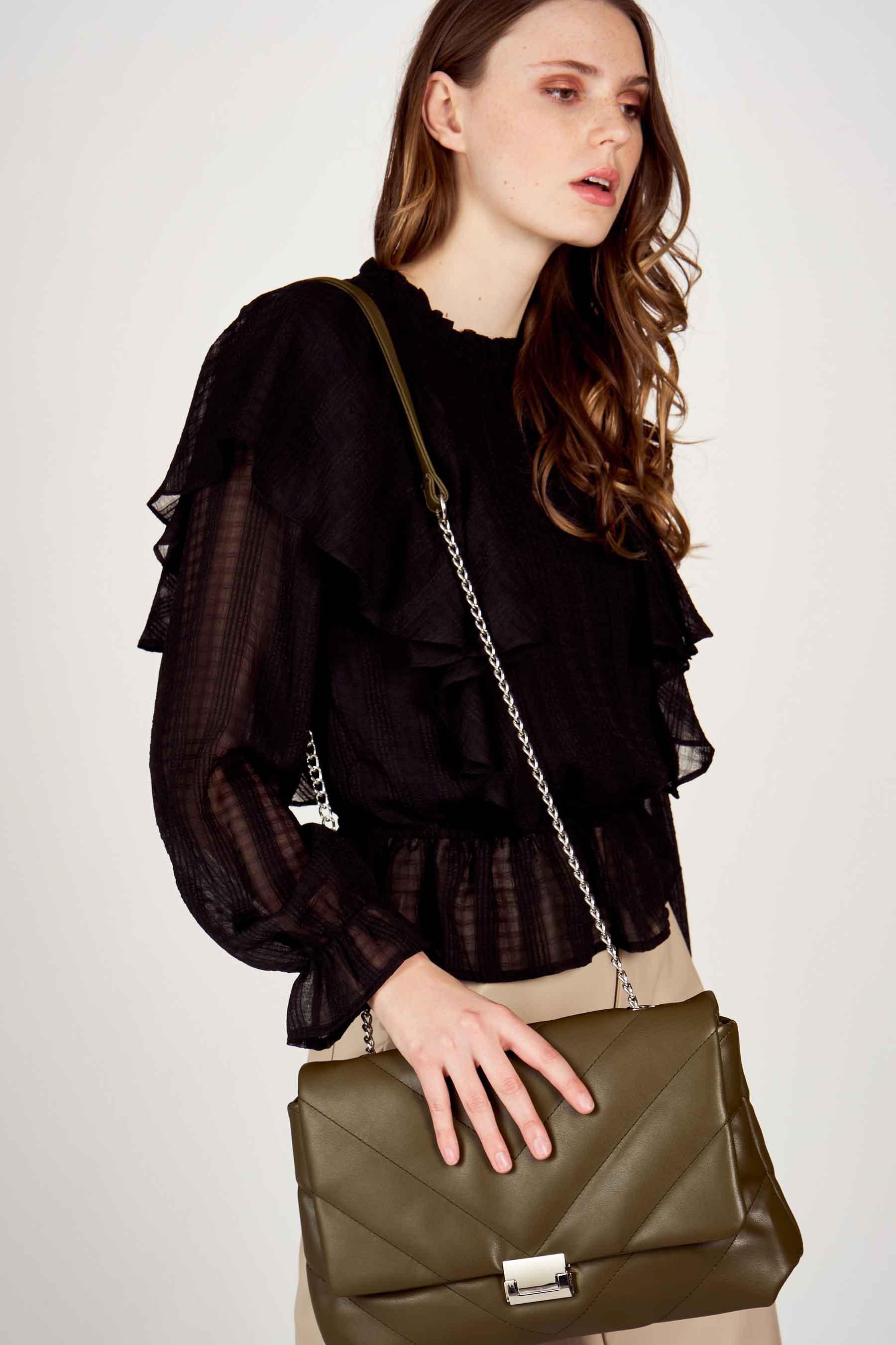 Vero Moda® Blouse lange mouwen, Zwart, Dames, Maat: L/M/S/XS