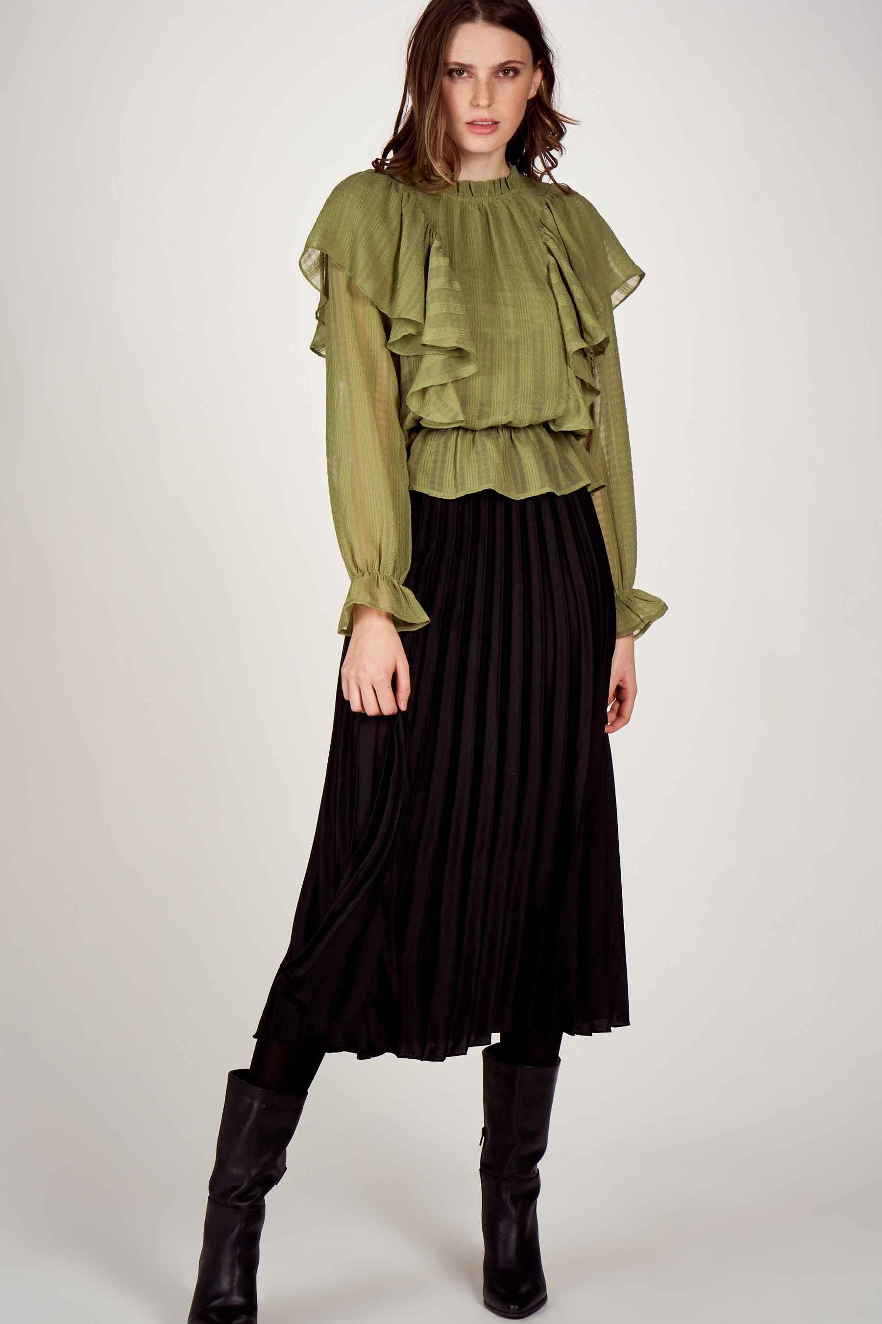 Vero Moda® Blouse lange mouwen, Groen, Dames, Maat: L/M/S/XS