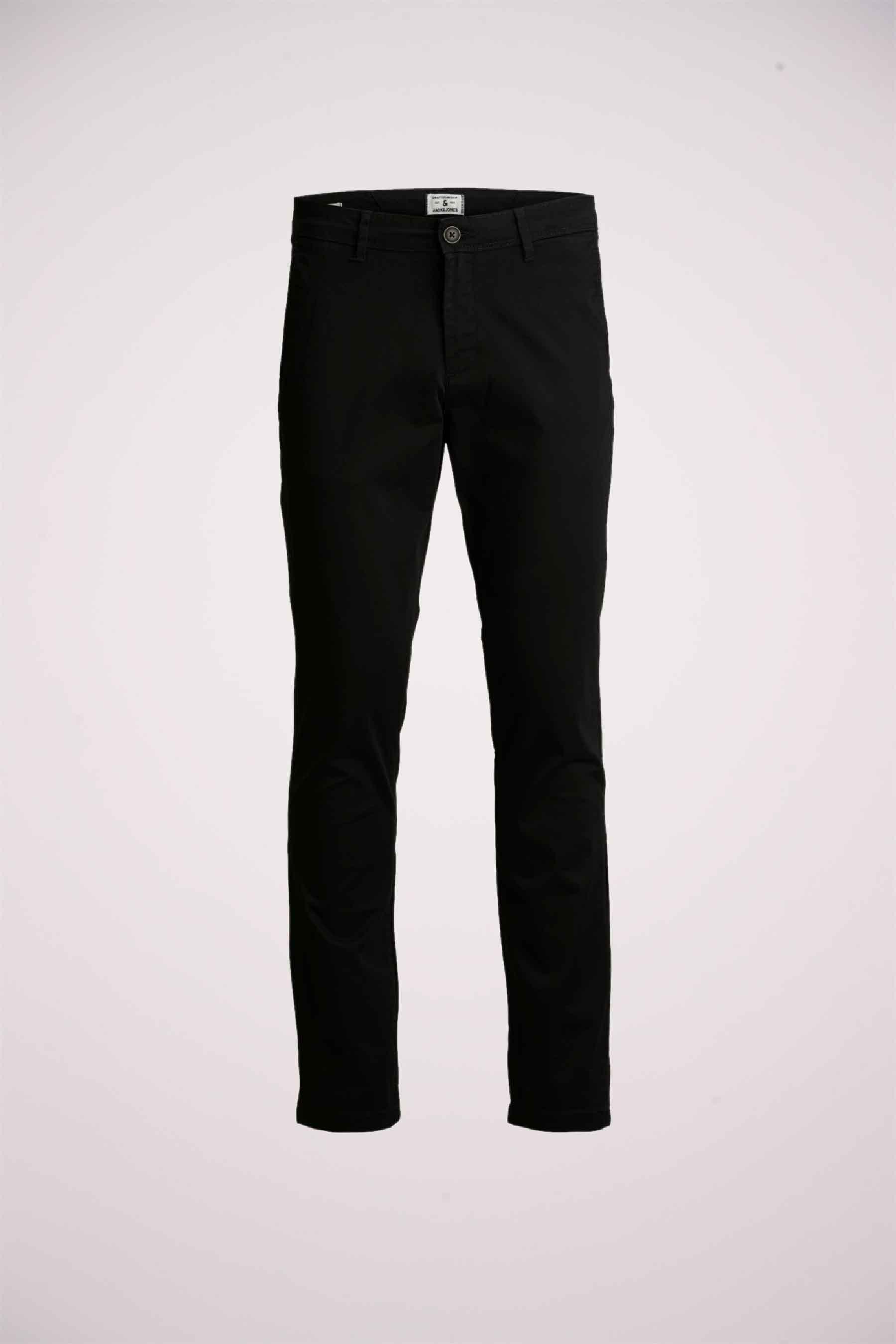 Jack & Jones Jeans Intelligenc Chino, Zwart, Heren, Maat: 32x34
