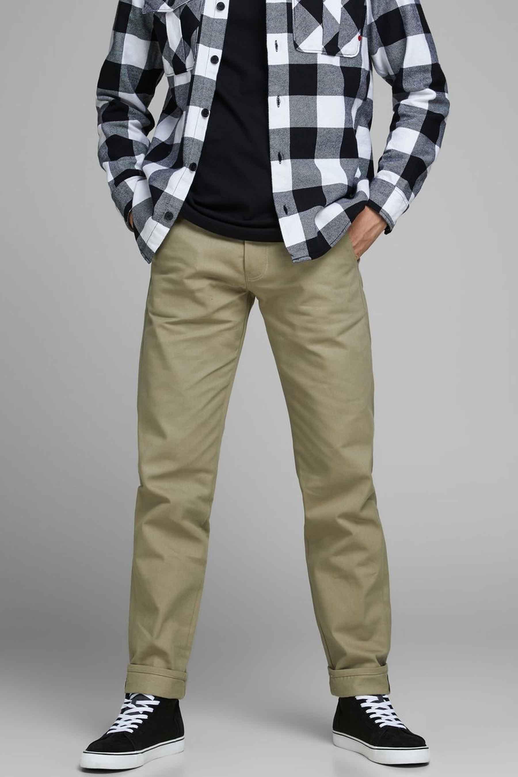 Jack & Jones Jeans Intelligenc Colorbroek, Rood, Heren, Maat: 27x32/28x32/28x34/