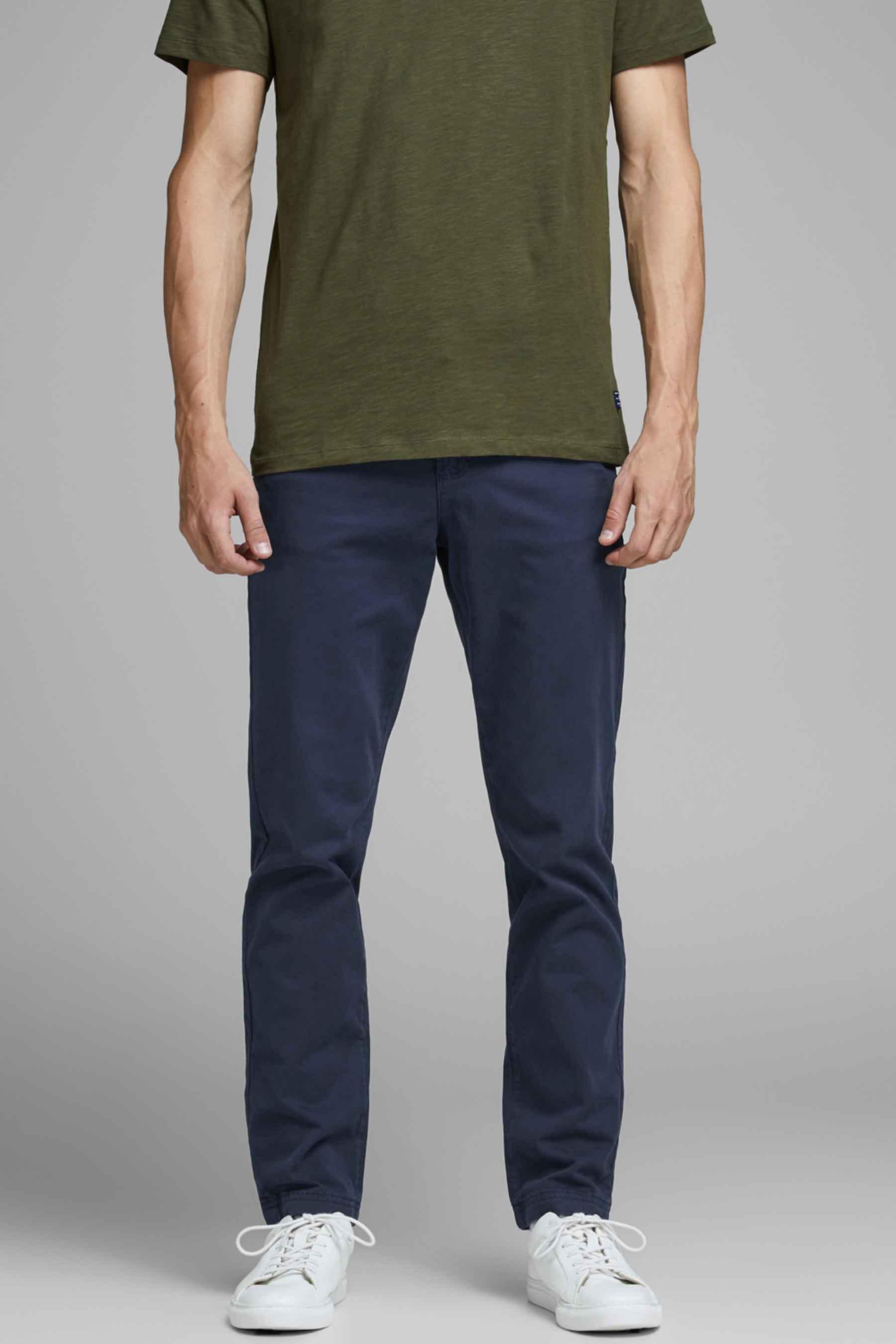 Jack & Jones Jeans Intelligenc Chino, Blauw, Heren, Maat: 27x32/28x32/28x34/29x3