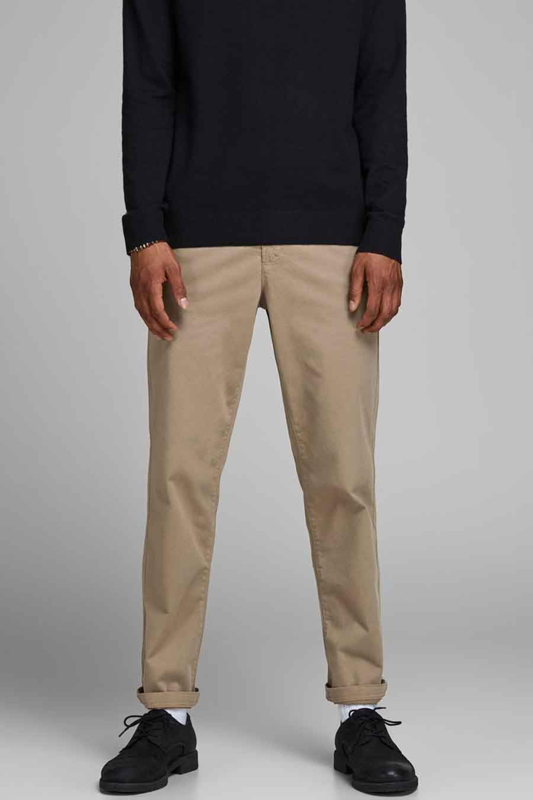 Jack & Jones Jeans Intelligenc Chino, Beige, Heren, Maat: 27x32/28x32/28x34/29x3