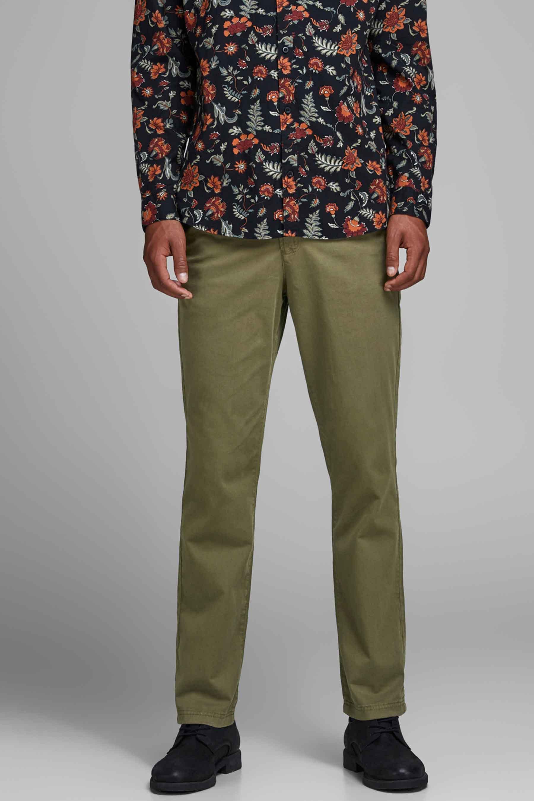 Jack & Jones Jeans Intelligenc Chino, Olive, Heren, Maat: 27x32