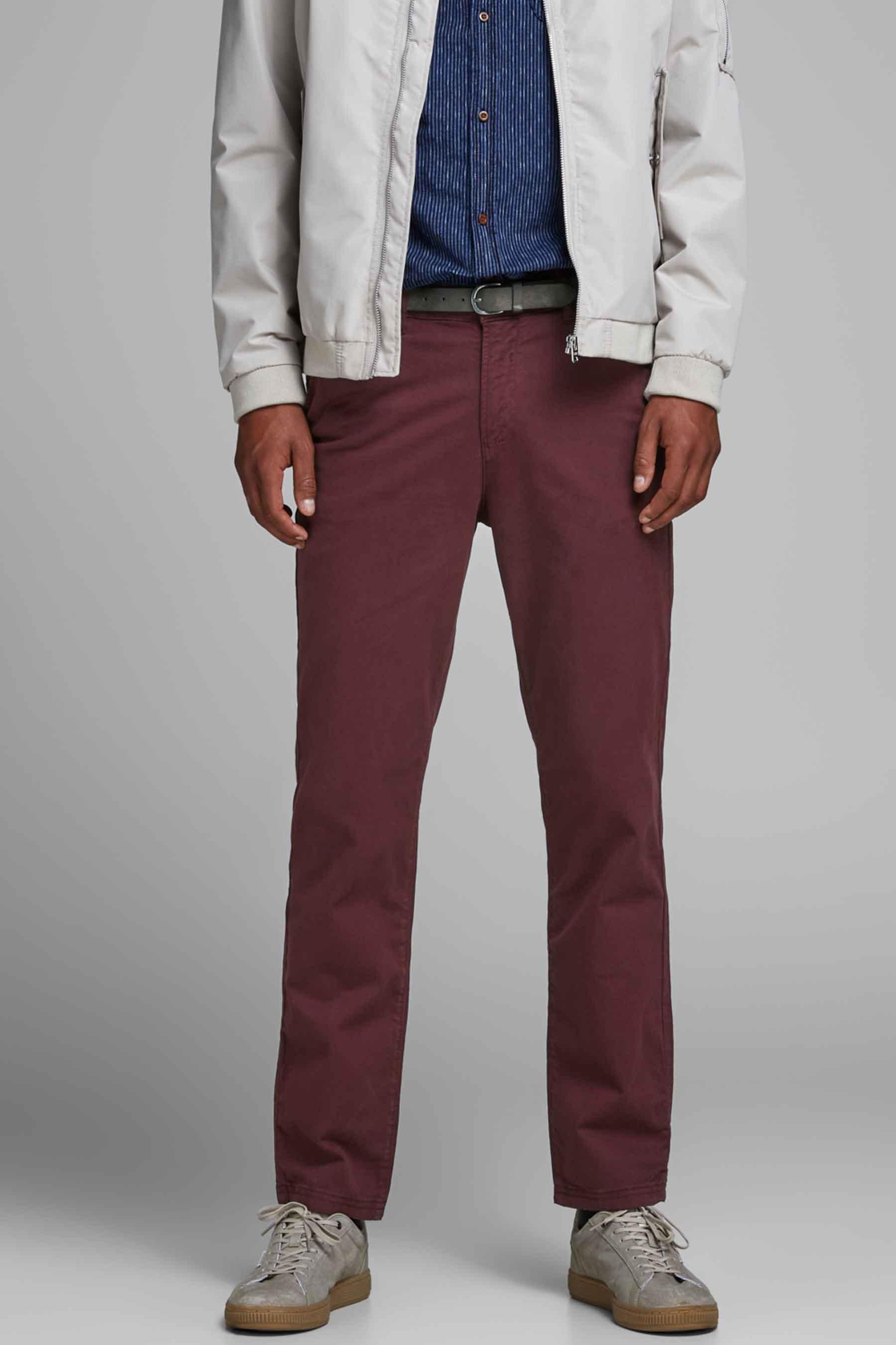 Jack & Jones Jeans Intelligenc Chino, Rood, Heren, Maat: 28x32/29x32/29x34/30x32