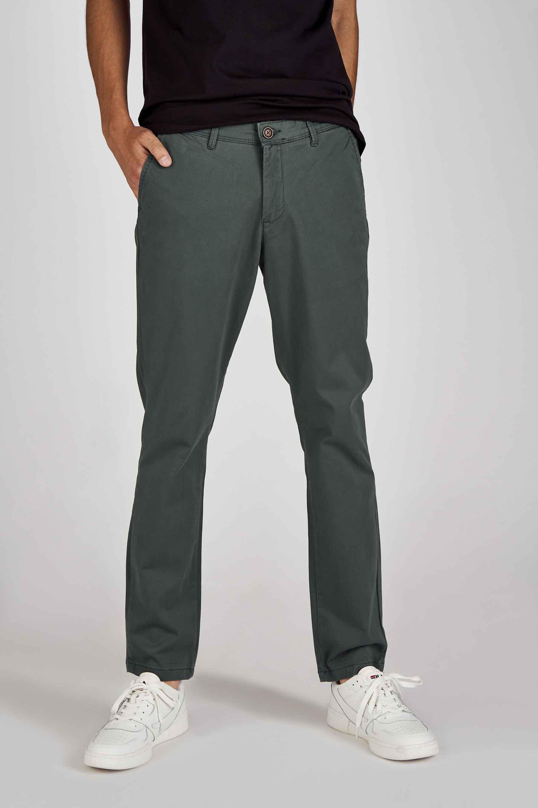Jack & Jones Jeans Intelligenc Chino, Groen, Heren, Maat: 27x32/28x32/29x32/29x3