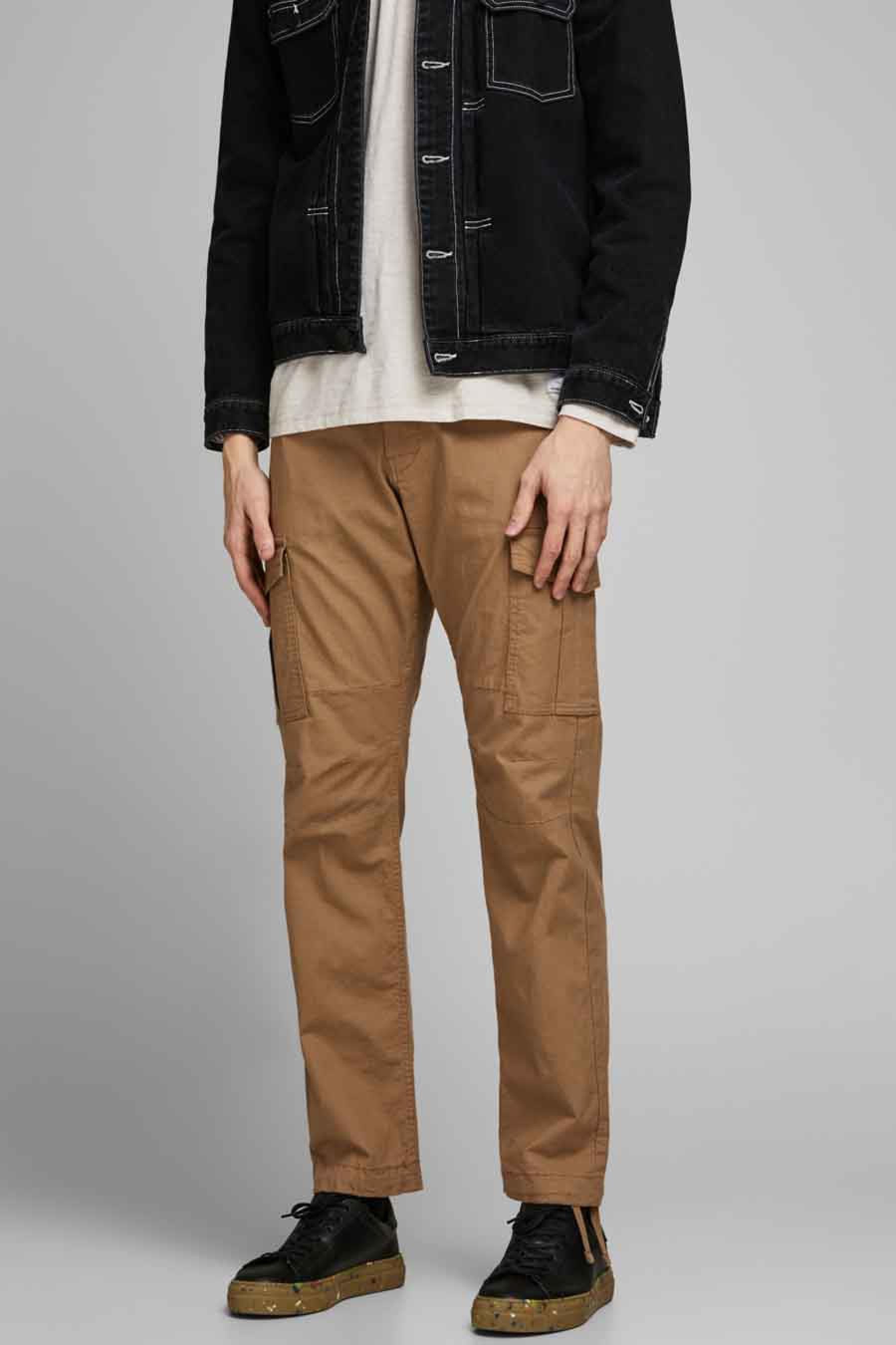 Jack & Jones Jeans Intelligenc Broek, Rood, Heren, Maat: 29x34/33x34/36x34