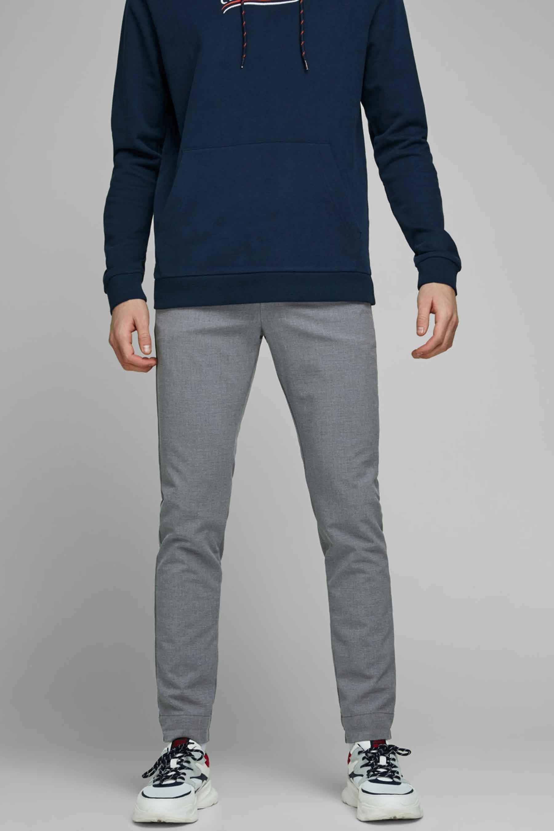 Jack & Jones Jeans Intelligenc Colorbroek, Grijs, Heren, Maat: 36x32/36x34