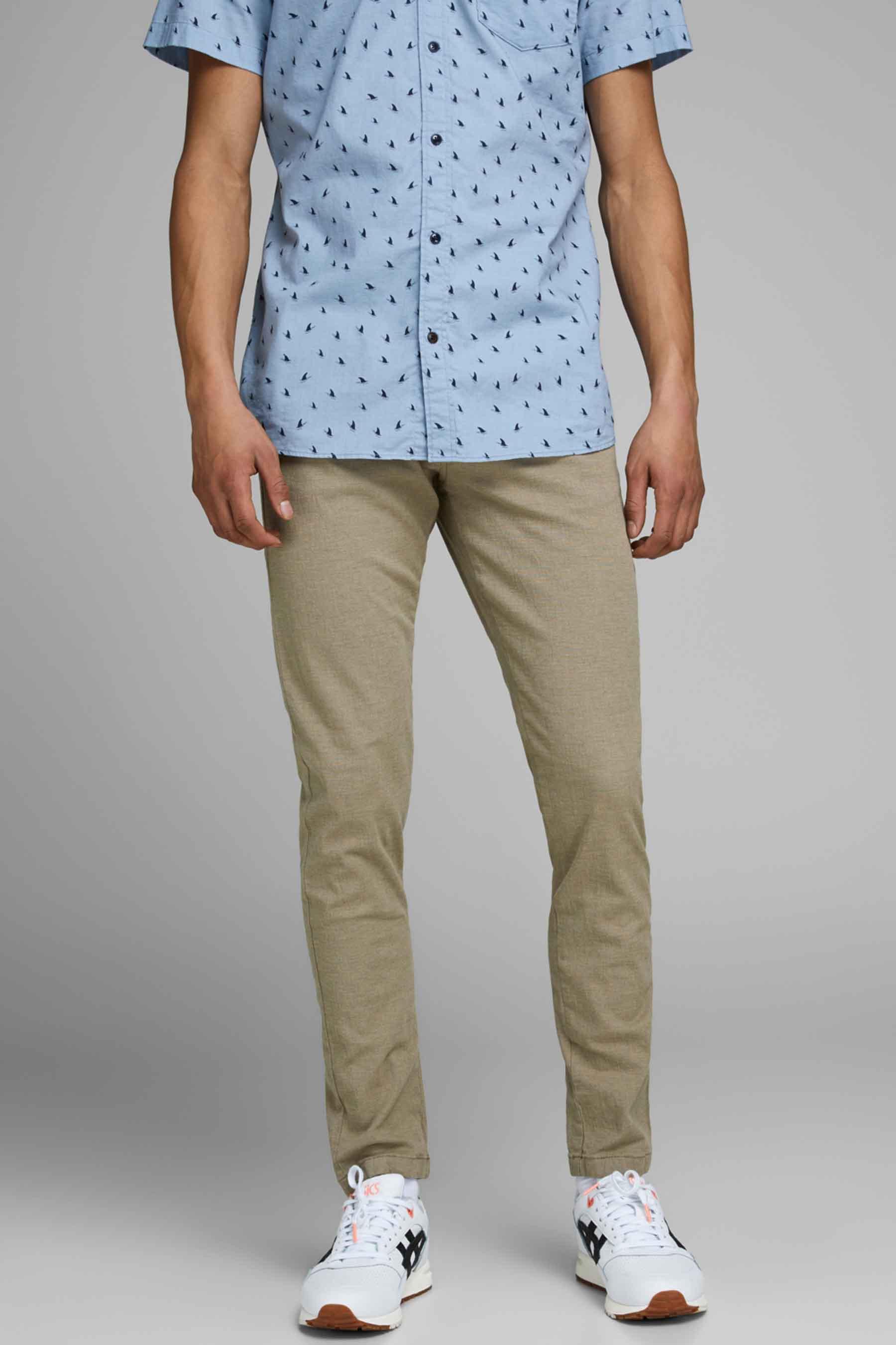 Jack & Jones Jeans Intelligenc Colorbroek, Beige, Heren, Maat: 28x34