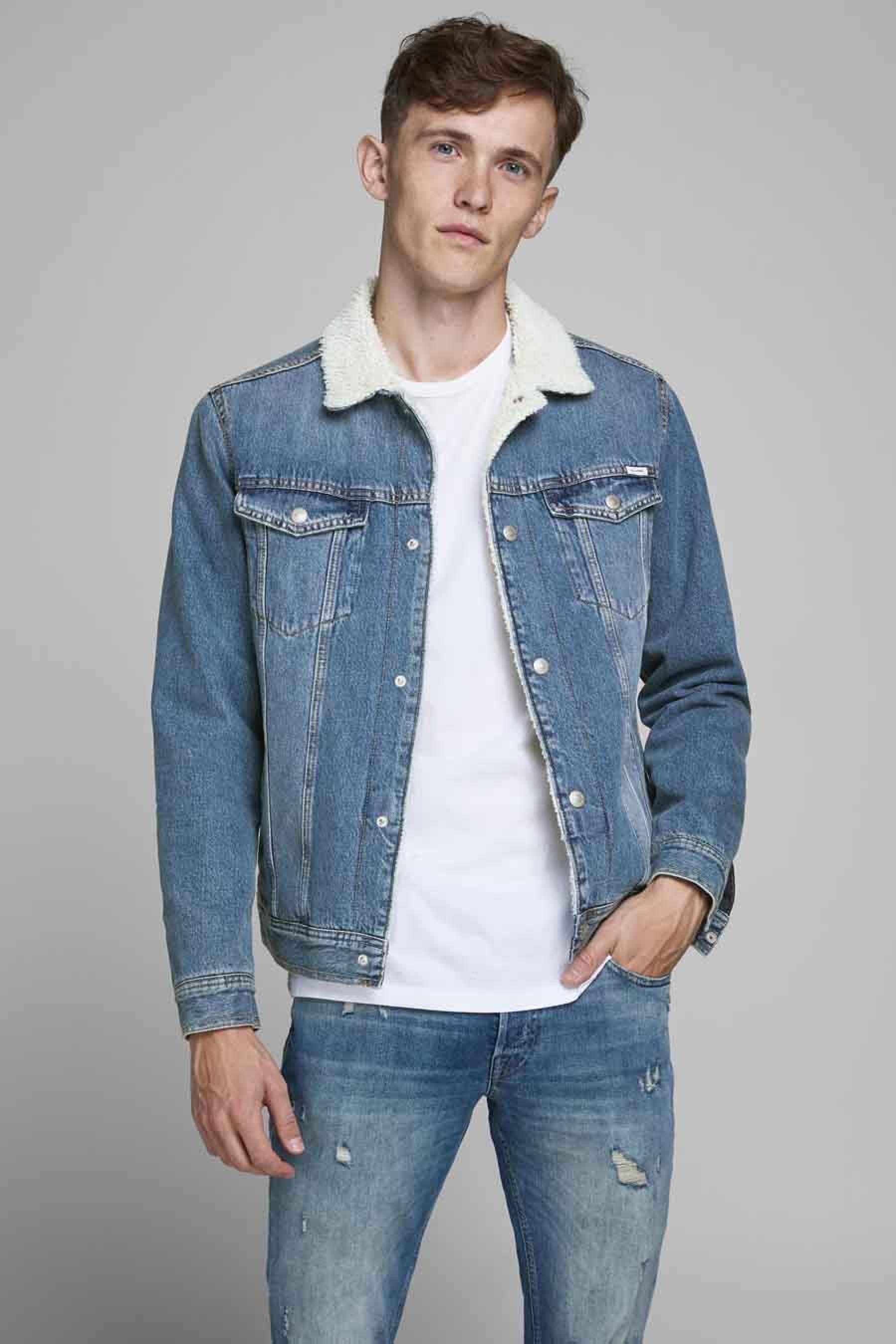 Jack & Jones Jeans Intelligenc Jas jeans, Denim, Heren, Maat: L/M/S