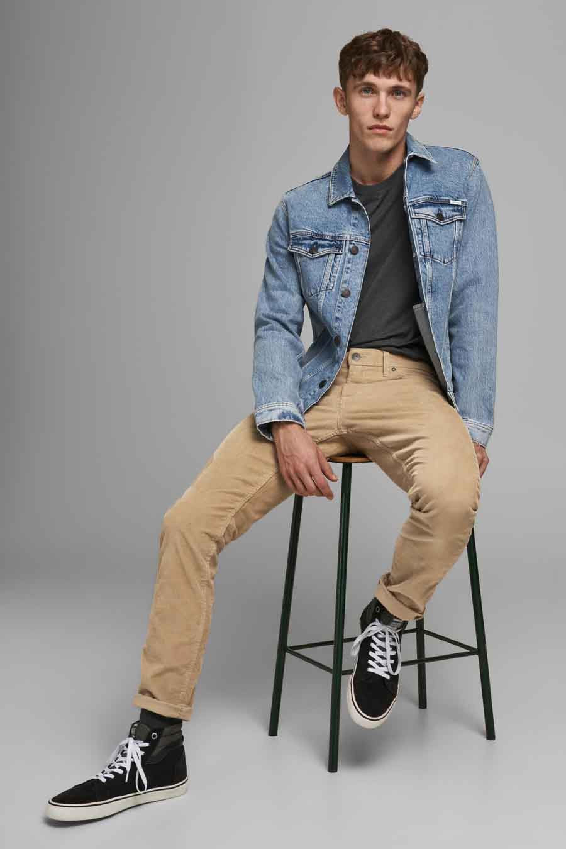 Jack & Jones Jeans Intelligenc Broek, Bruin, Heren, Maat: 28x32/29x32/30x32/31x3