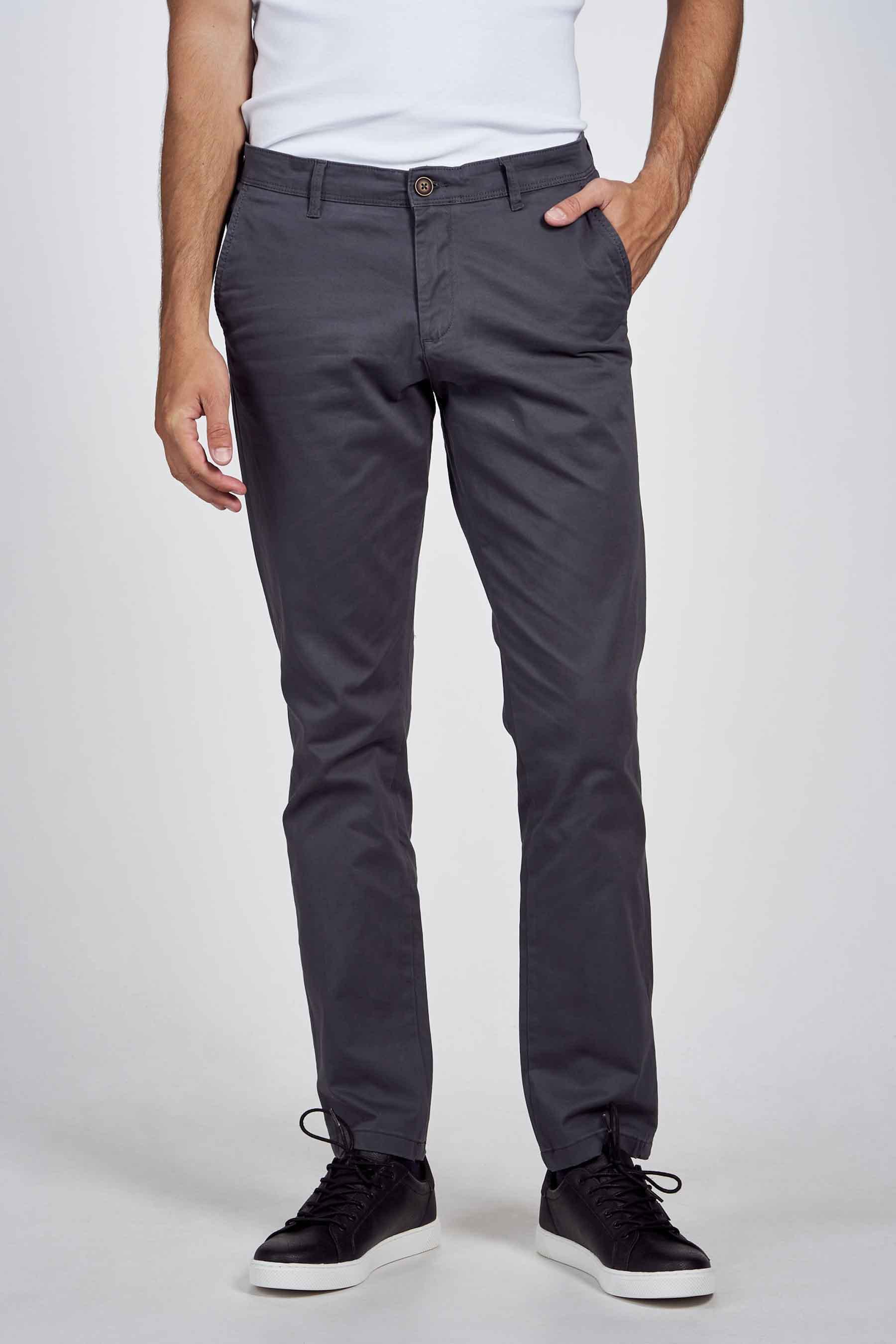 Jack & Jones Jeans Intelligenc Chino, Grijs, Heren, Maat: 27x32/28x32/28x34/29x3