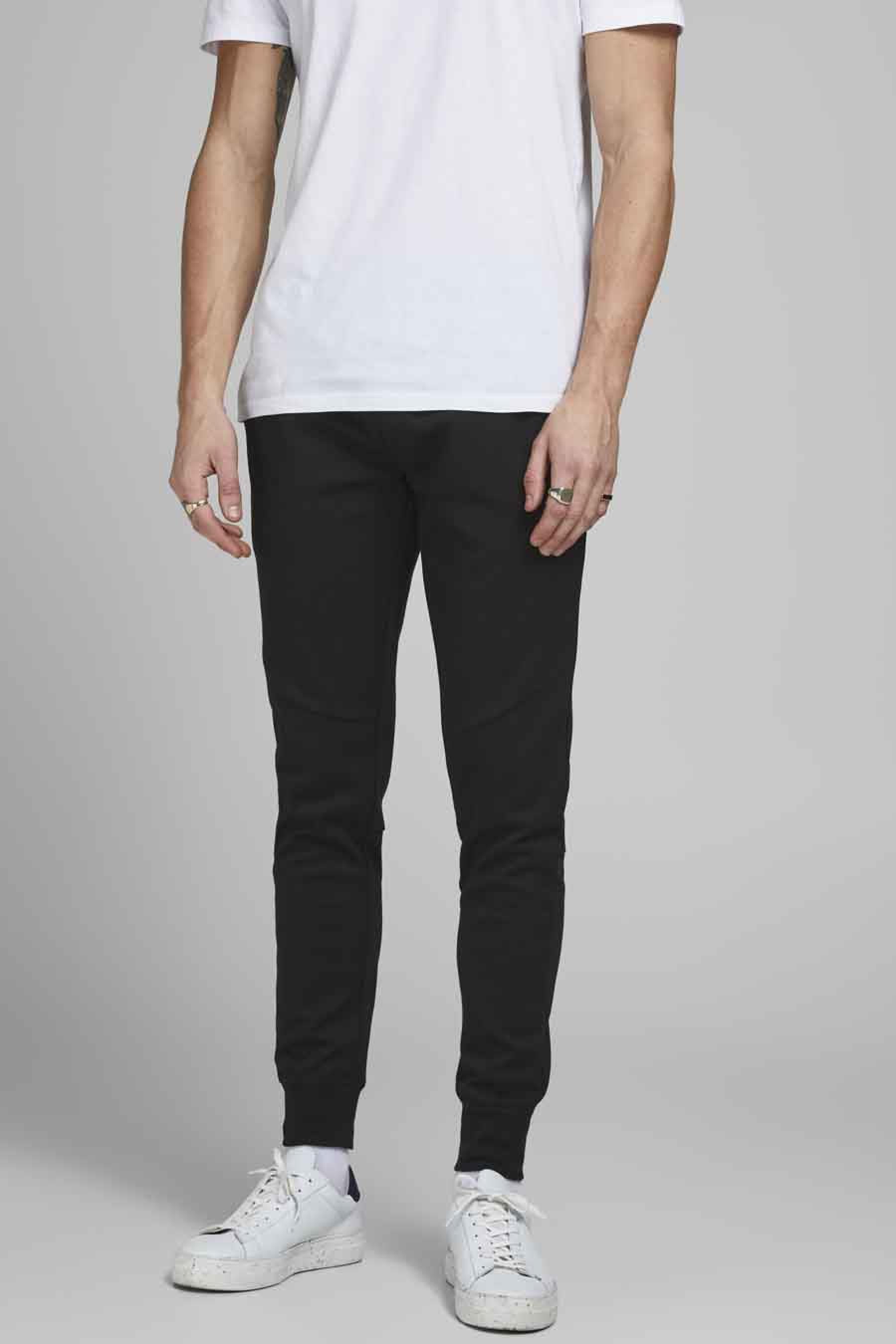 Jack & Jones Jeans Intelligenc Jogging, Zwart, Heren, Maat: L/M/S/XL/XS