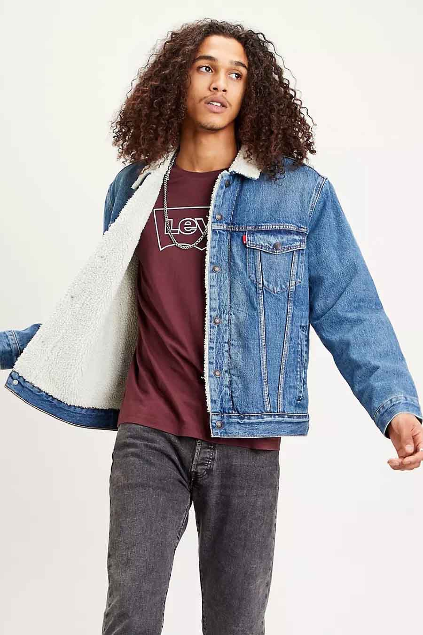 Levi's® Jas jeans, Denim, Heren, Maat: L/M/S/XL