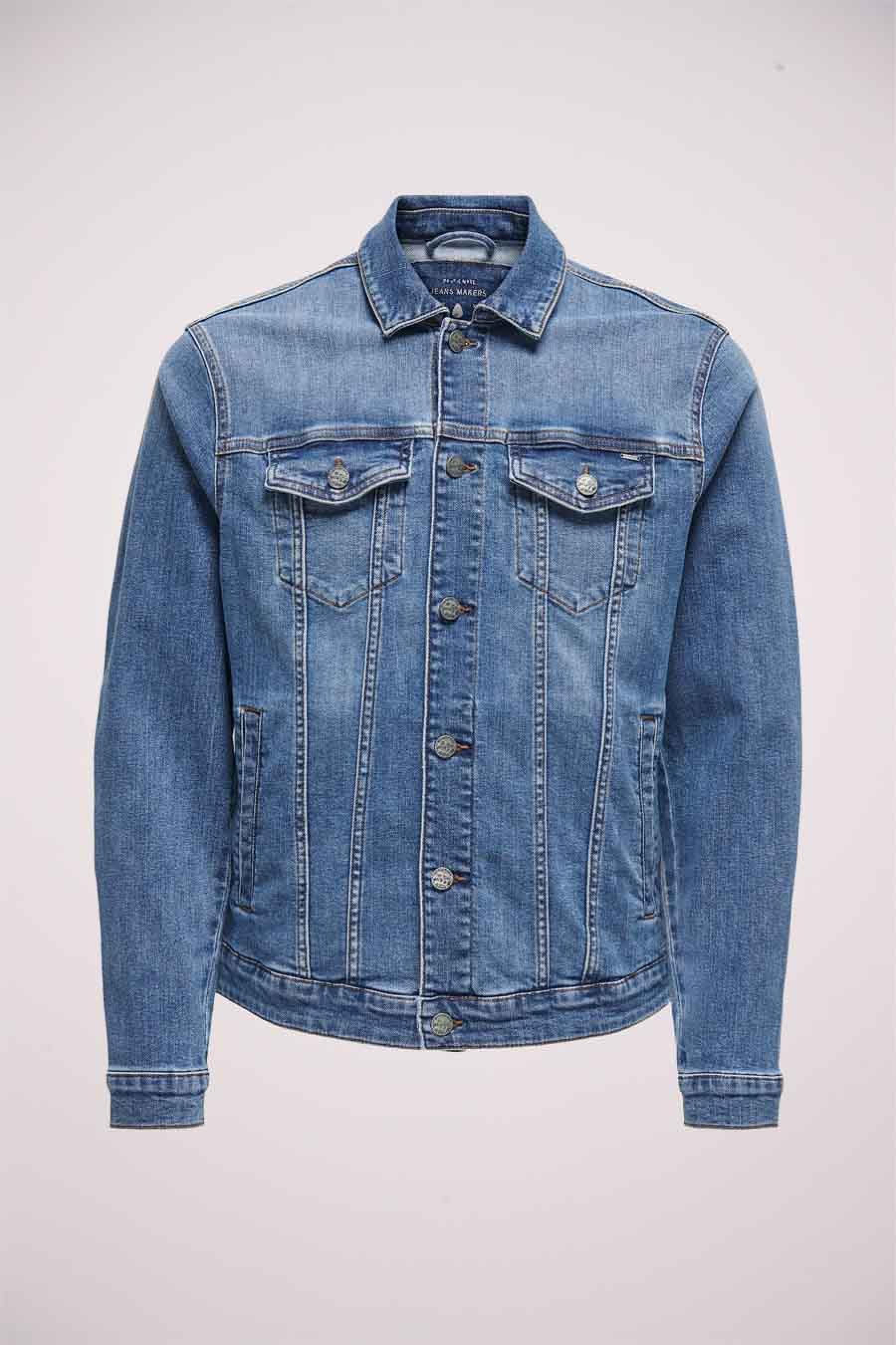 ONLY & SONS Jas jeans, Denim, Heren, Maat: L/M/S/XL