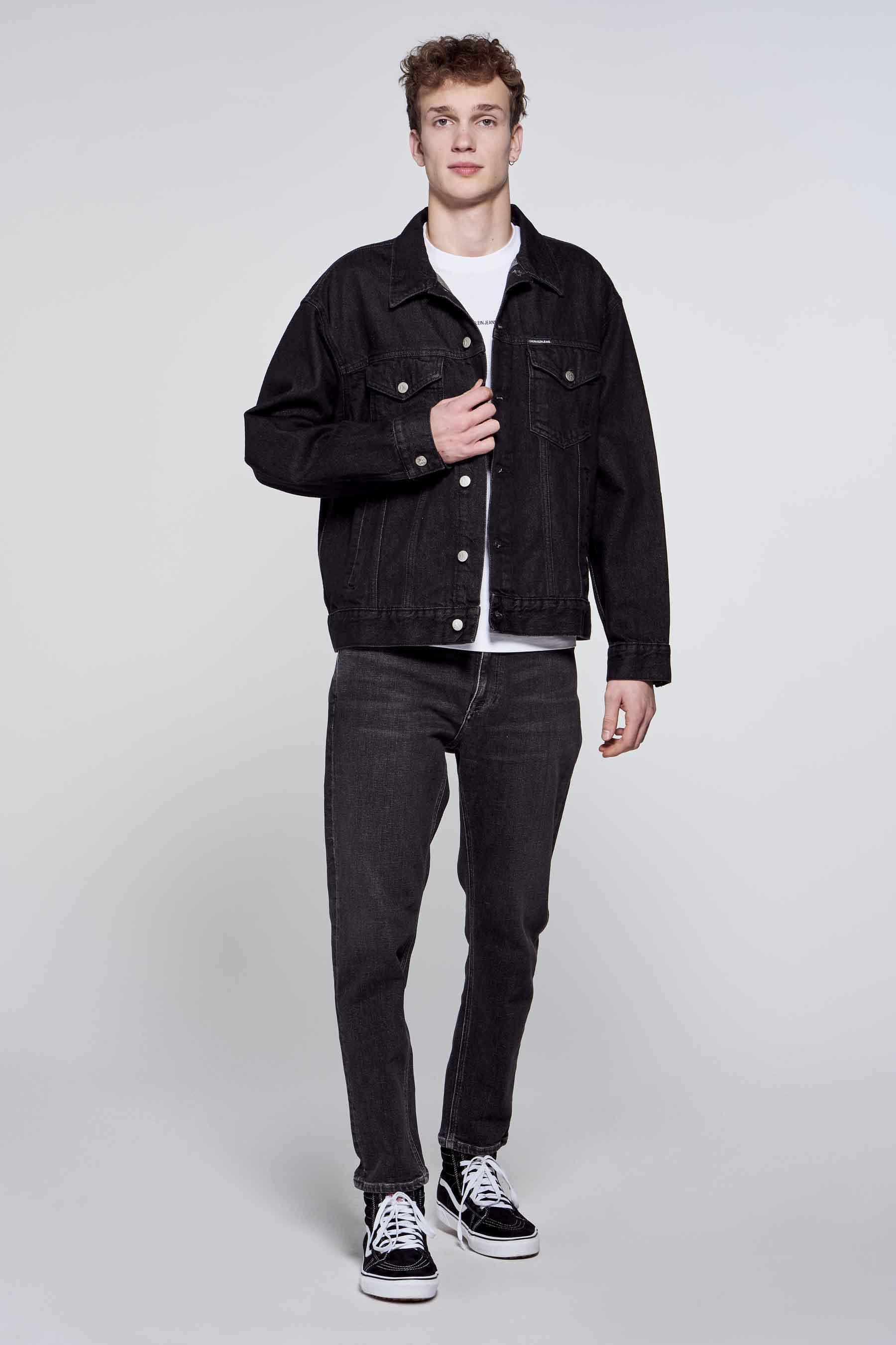 Calvin Klein Jas jeans, Zwart, Heren, Maat: M/S/XS