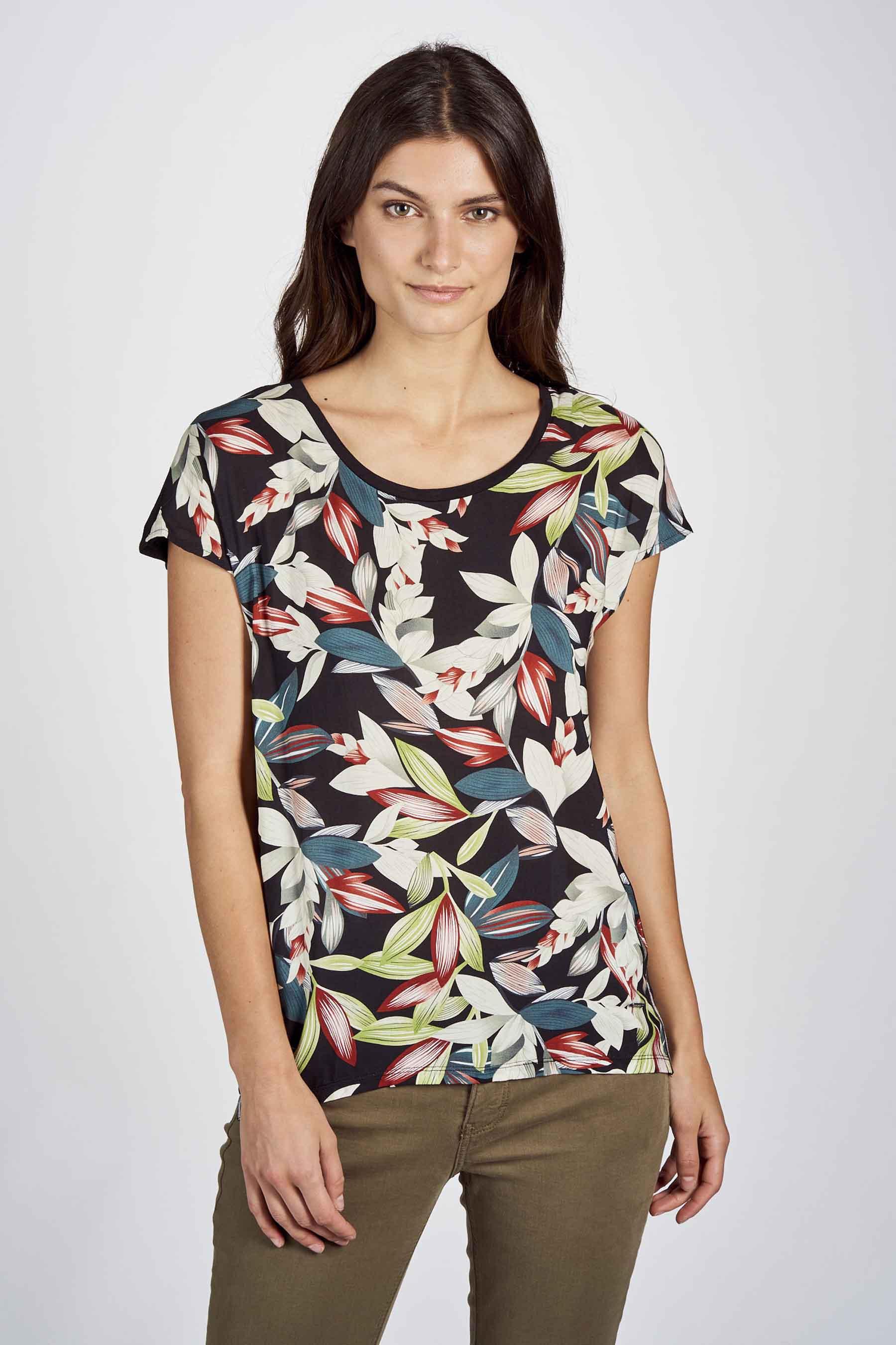 Zabaione Blouse korte mouwen, Multicolor, Dames, Maat: L/M/S/XL
