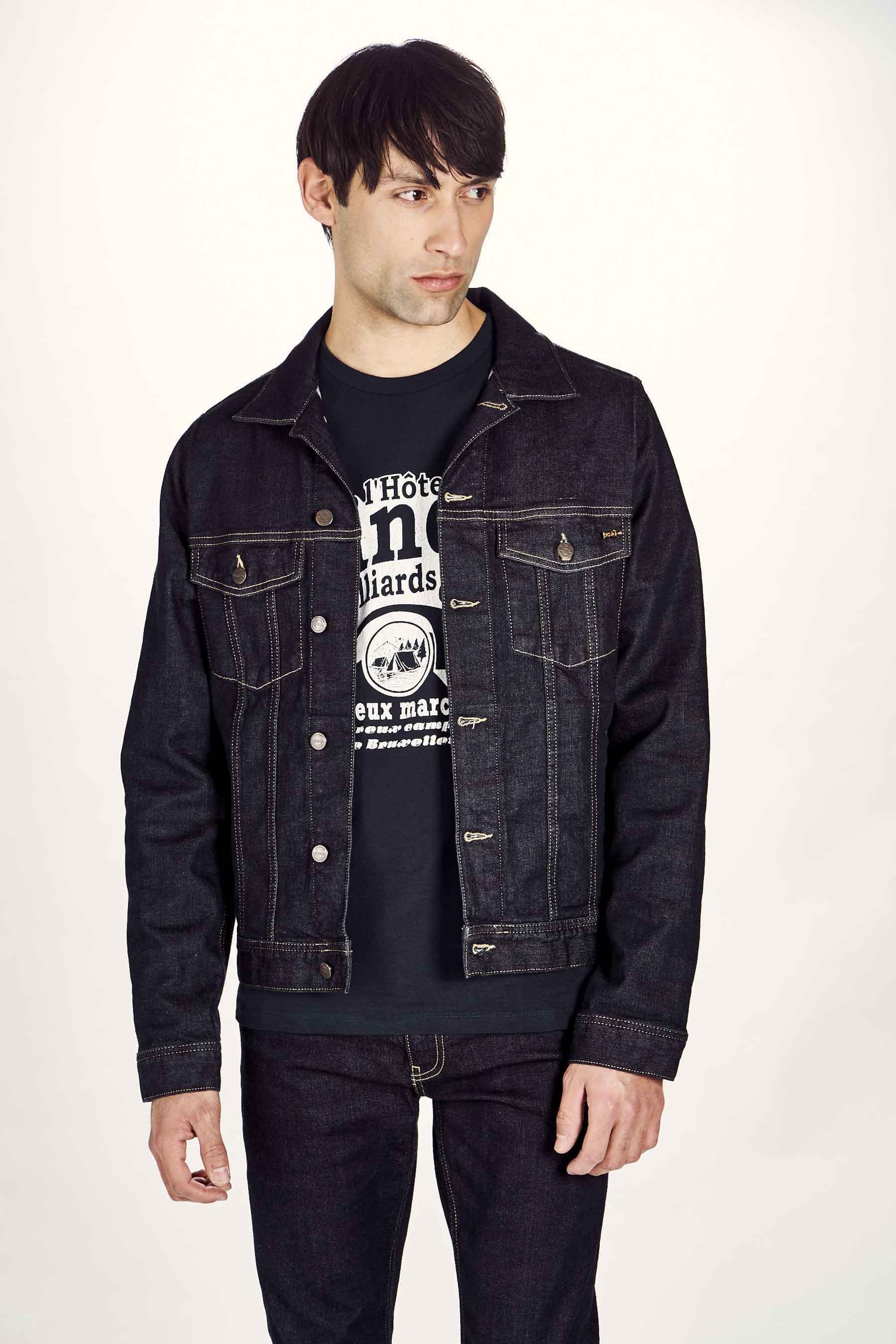 Le Fabuleux Marcel De Bruxelles Jas jeans, Blauw, Heren, Maat: L/M/S/XL
