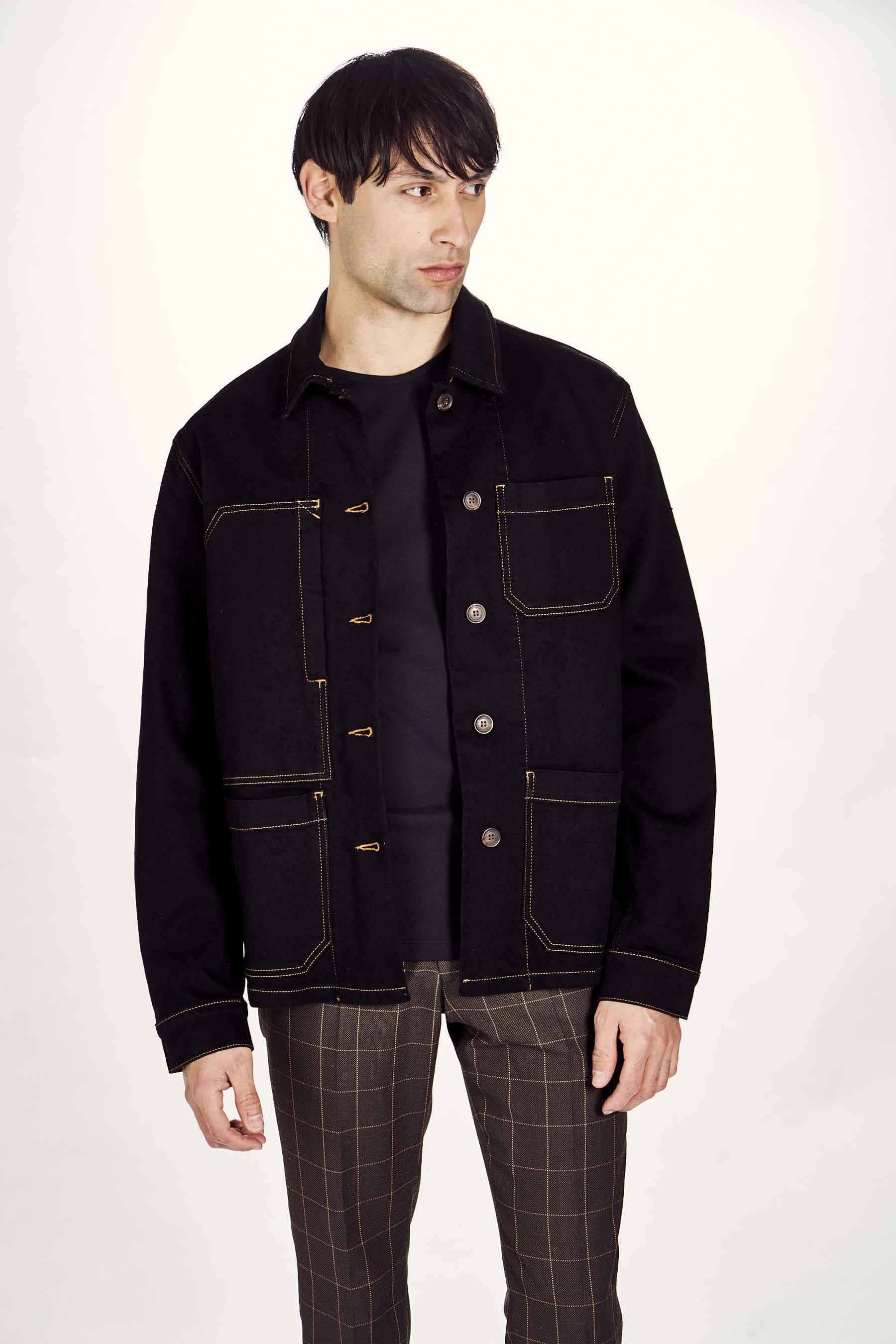 Le Fabuleux Marcel De Bruxelles Jas jeans, Zwart, Heren, Maat: S/XL