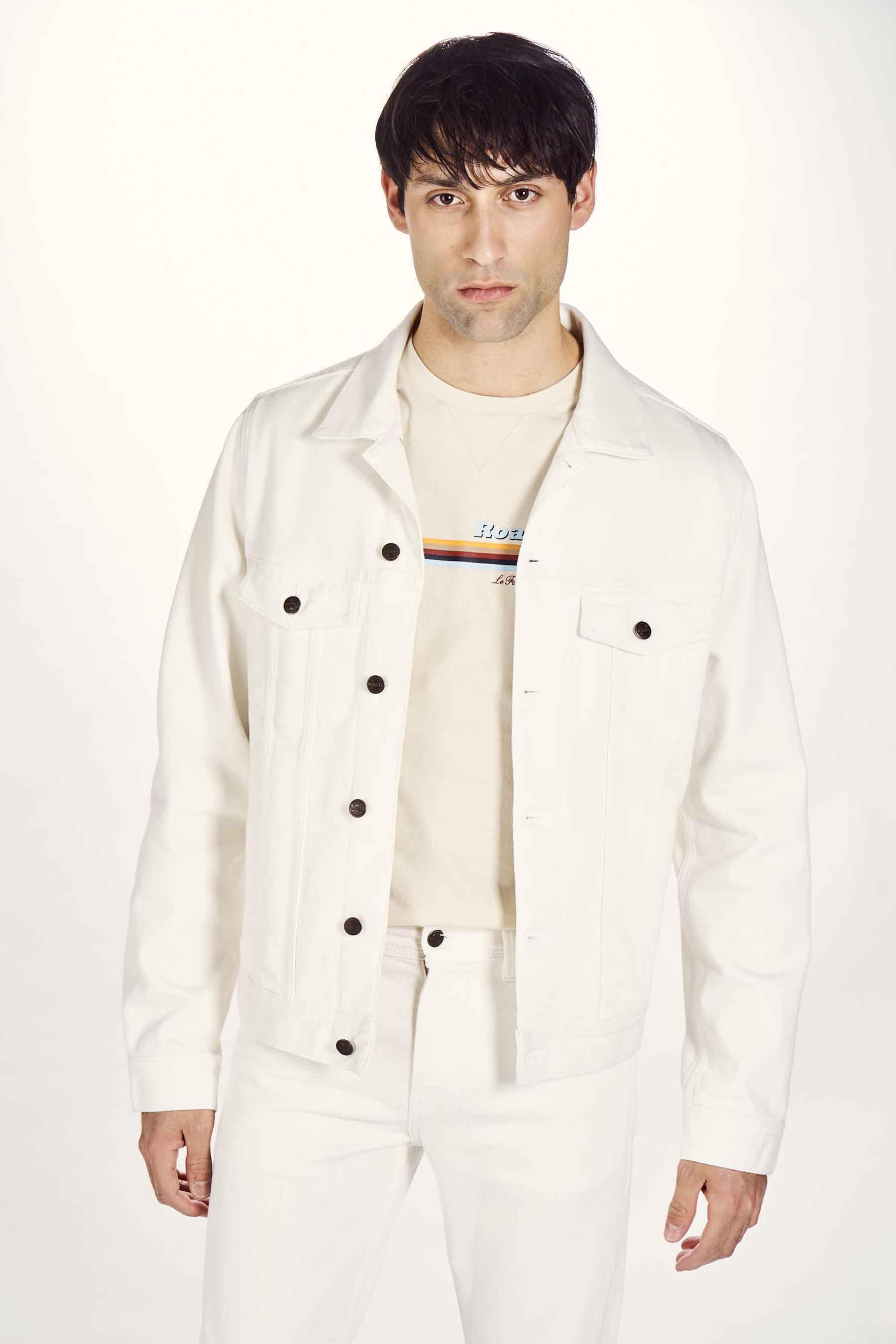 Le Fabuleux Marcel De Bruxelles Jas jeans, Wit, Heren, Maat: L/M/S/XL