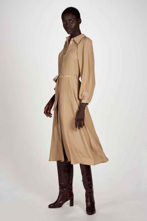 Astrid Black Label Robes 3/4 beige ABL202WT 005_LATTE img1