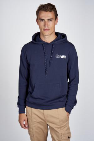 CEMI Sweaters met kap blauw EMI202MT 008_NAVY img1