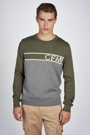 CEMI Sweaters met ronde hals groen EMI202MT 014_OLIVE NIGHT img1