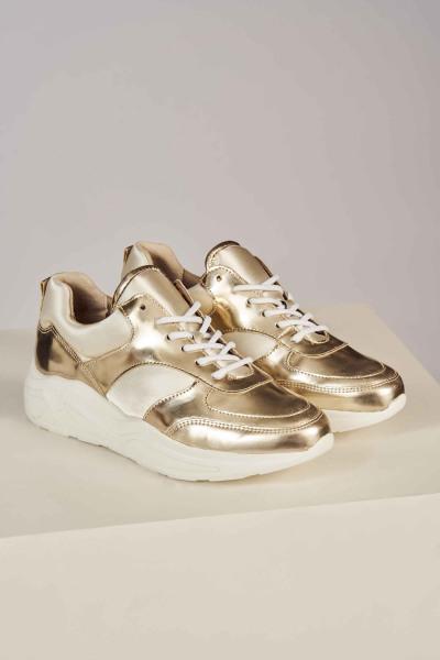 Sneakers - goud