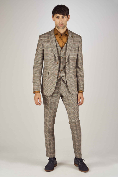 Veste de costume avec pantalon beige