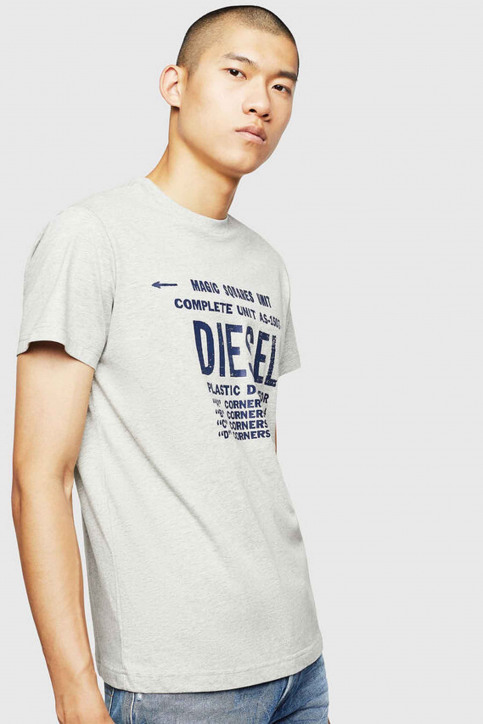 Diesel T-shirts (manches courtes) gris 00SXE 0091A_912 GRAY img1