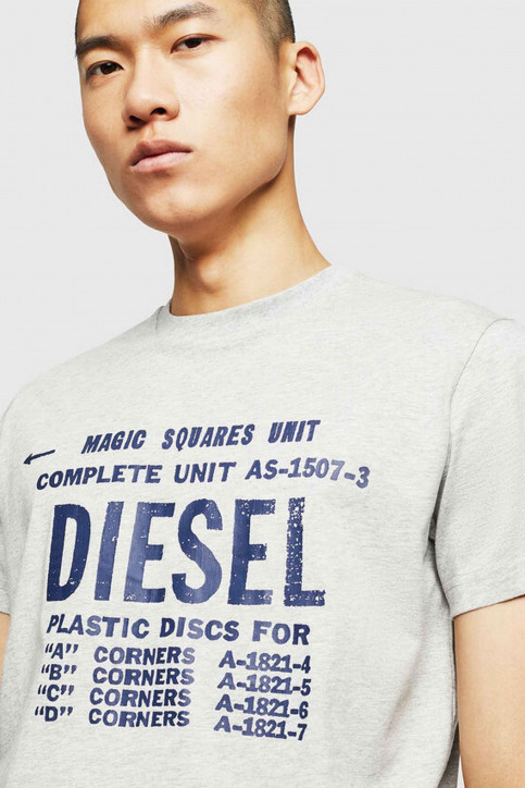 Diesel T-shirts (manches courtes) gris 00SXE 0091A_912 GRAY img3