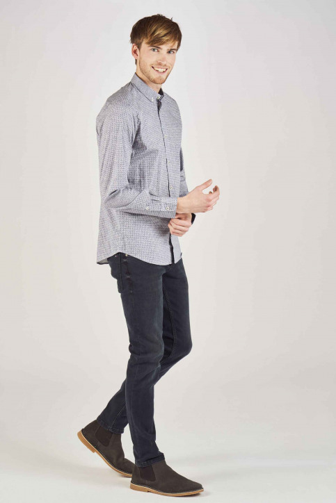 Tom Tailor Hemden (lange mouwen) blauw 1007372_15343 HAND DRAW img2
