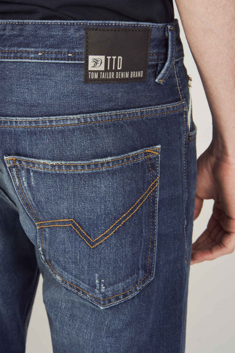 TOM TAILOR Jeans tapered denim 1008459_10136 DARK BLUE img5