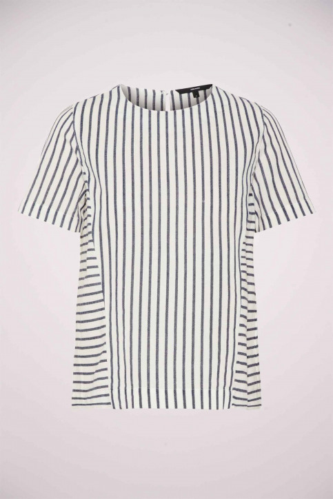 VERO MODA T-shirts (manches courtes) blanc 10209774_SNOW WHITE NIGH img4