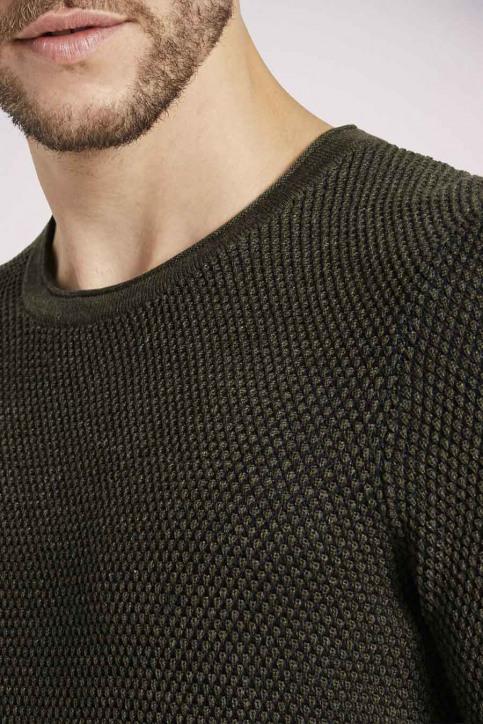 Tom Tailor Truien met ronde hals groen 1021448_24927 OLIVE NAV img6