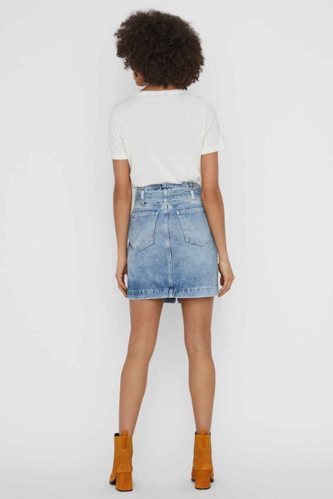 VERO MODA® T-shirts (korte mouwen) wit 10234620_SNOW WHITE DANC img3