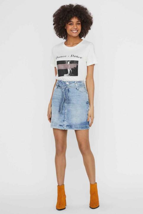 VERO MODA® T-shirts (korte mouwen) wit 10234620_SNOW WHITE DANC img4