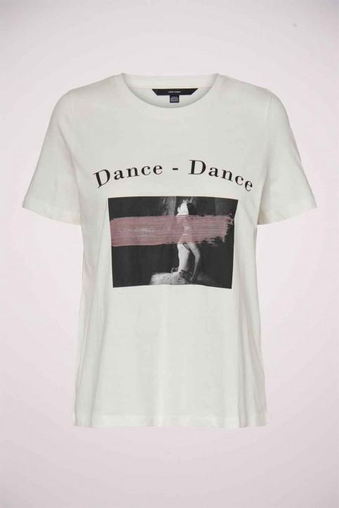 VERO MODA® T-shirts (korte mouwen) wit 10234620_SNOW WHITE DANC img5