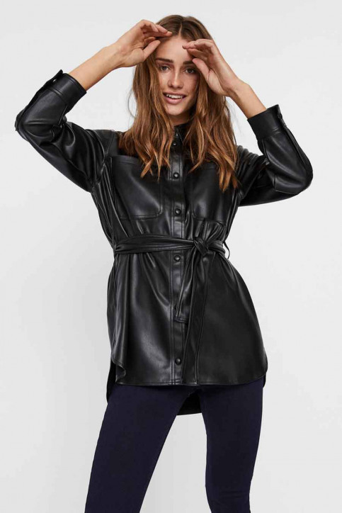 VERO MODA Vestes en cuir noir 10235687_BLACK img1