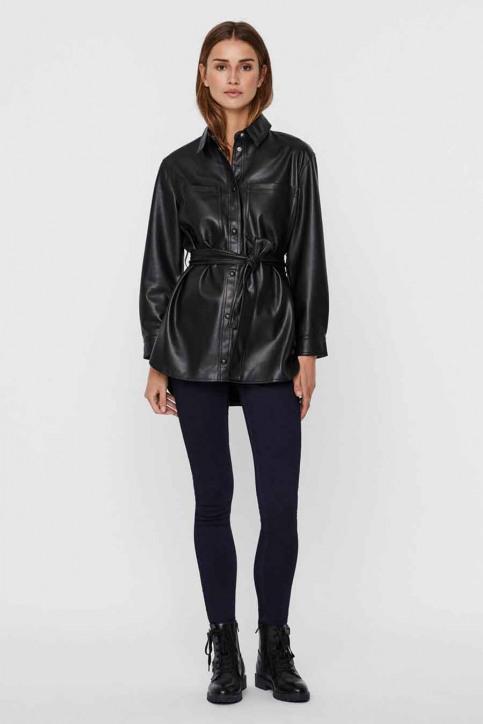 VERO MODA Vestes en cuir noir 10235687_BLACK img2