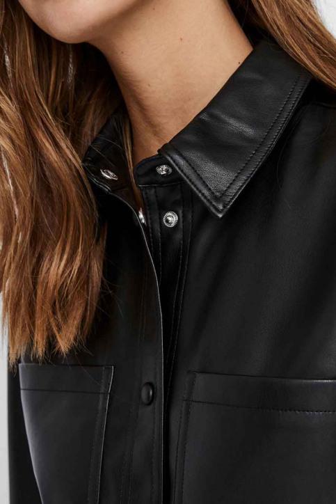 VERO MODA Vestes en cuir noir 10235687_BLACK img4