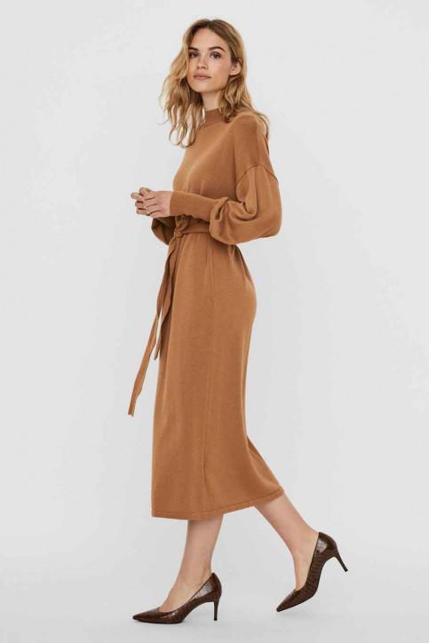 VERO MODA Robes 3/4 brun 10235696_TOBACCO BROWN img1