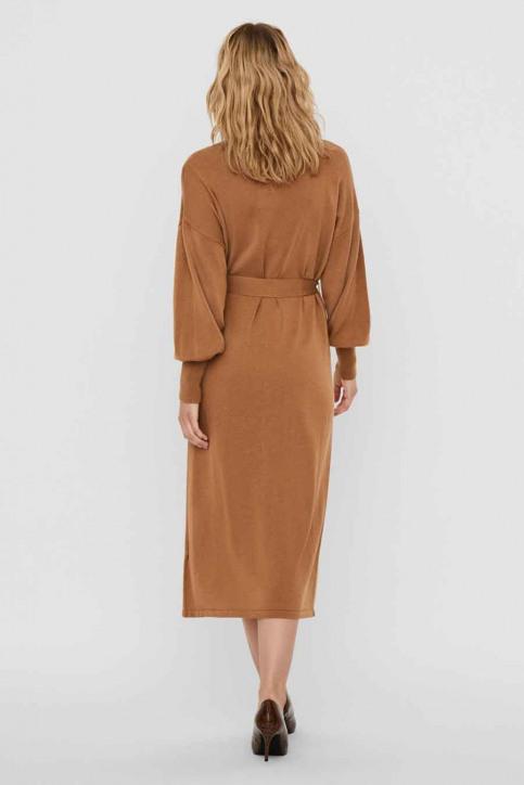 VERO MODA Robes 3/4 brun 10235696_TOBACCO BROWN img2