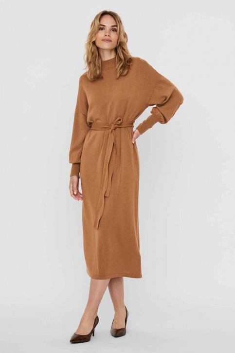 VERO MODA Robes 3/4 brun 10235696_TOBACCO BROWN img5