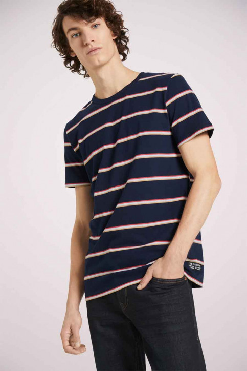 Tom Tailor T-shirts (korte mouwen) multicolor 1023831_25897 NAVY TRIC img1
