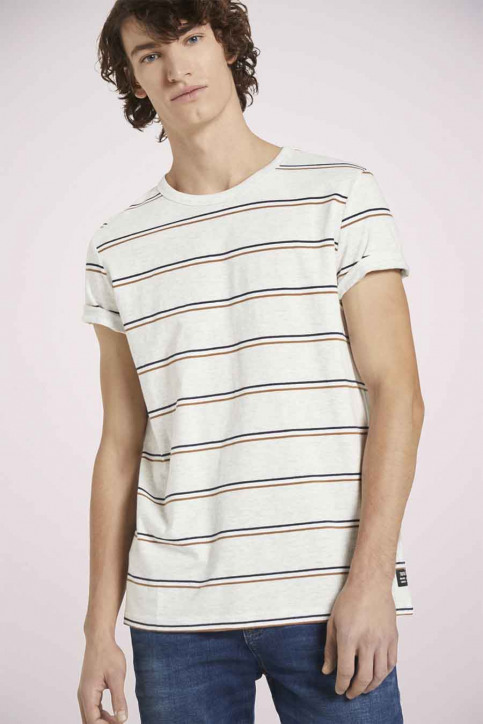 Tom Tailor T-shirts (korte mouwen) multicolor 1023831_25898 WHITE TRI img1