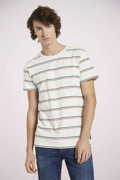 Tom Tailor T-shirts (korte mouwen) multicolor 1023831_25898 WHITE TRI img3