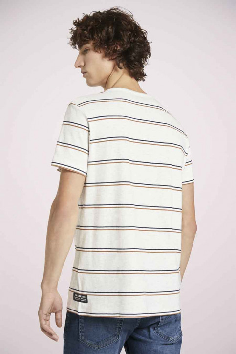 Tom Tailor T-shirts (korte mouwen) multicolor 1023831_25898 WHITE TRI img4